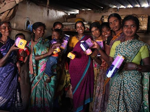 Celebrate this new years by joining hands with us! Make them smile. Make menstrual hygiene a reality for many!