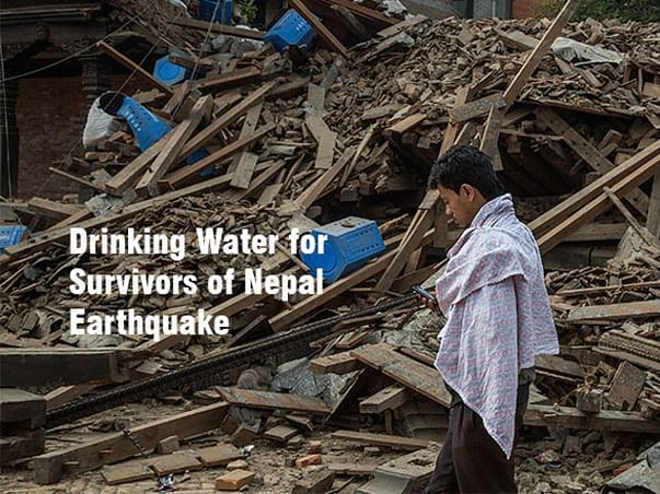 I am fundraising to drinking Water For Nepal Relief