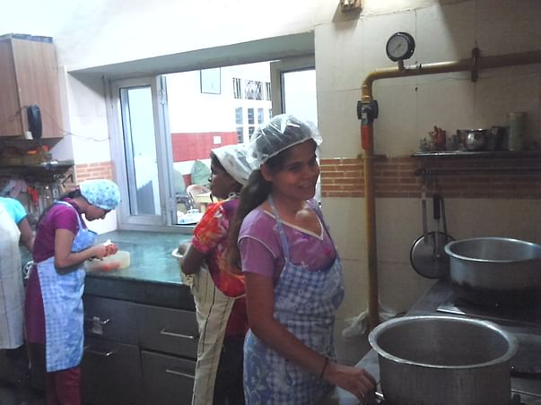 I am fundraising to help blind girls cook