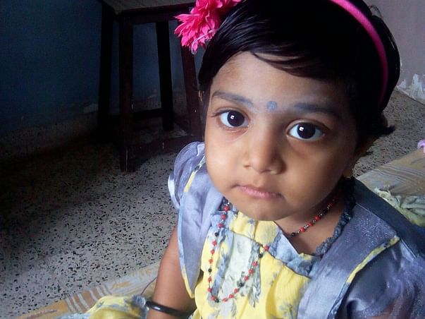I am fundraising to help Help a 3 Year Tiny Angel from Life Threatening  Pneumonia