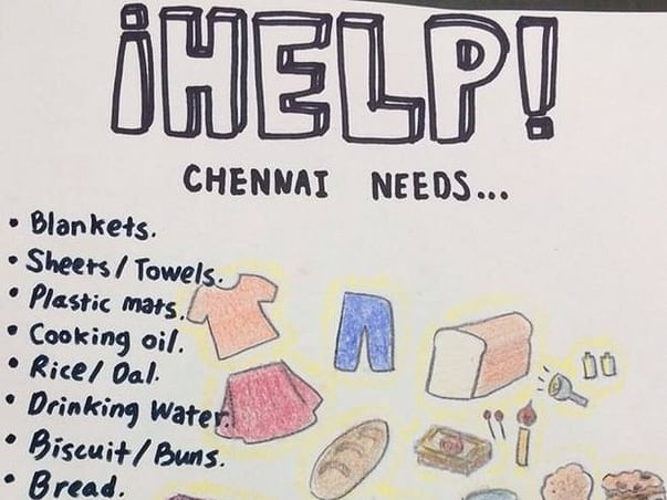 I am fundraising to help the flood affected people in TamilNadu and their rehabitation