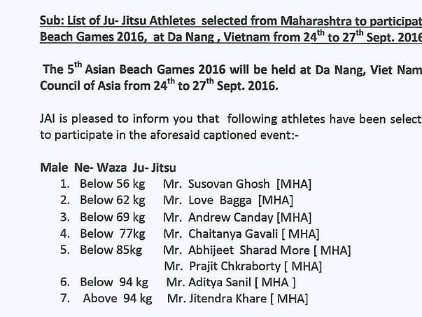 Asian Beach Games sponsership