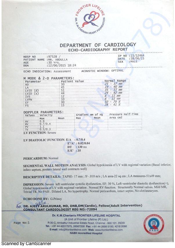 1. Chennai Hospital Report