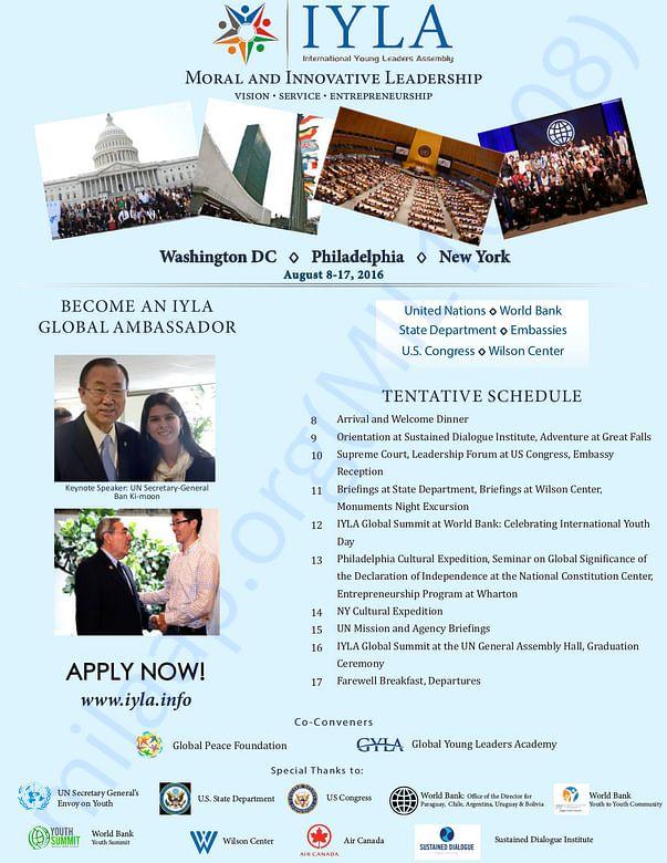 IYLA 2016 program schedule
