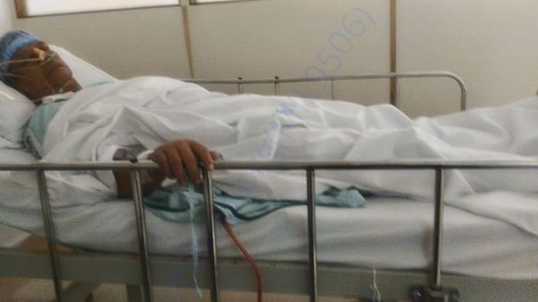 Photo of the my appa Vincent during treatment
