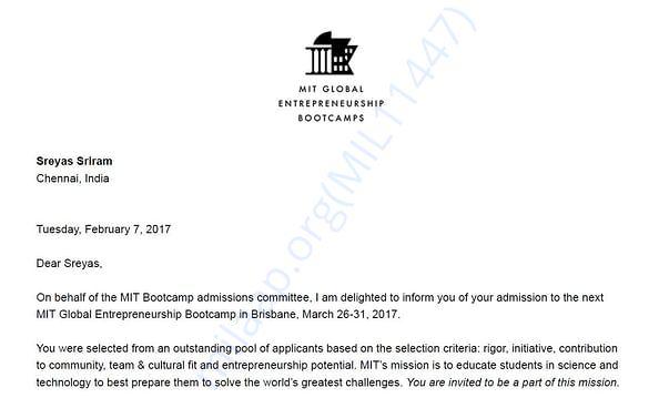 My MIT Invite