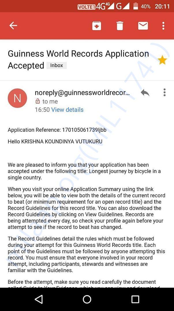 Guinnes World Record Appoval