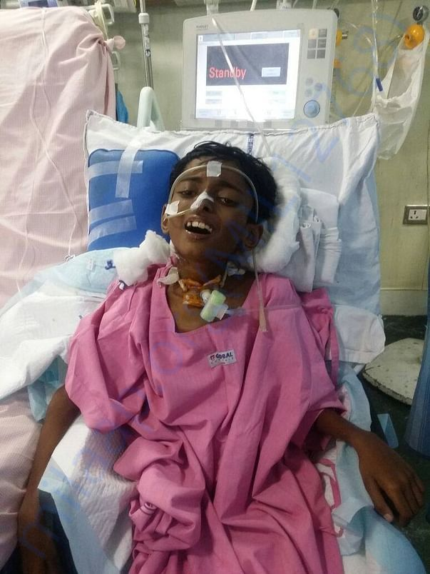 Mithilesh after surgery