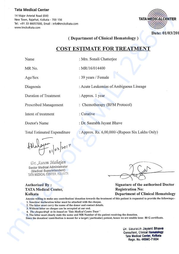 Cost Estimation from Hospital