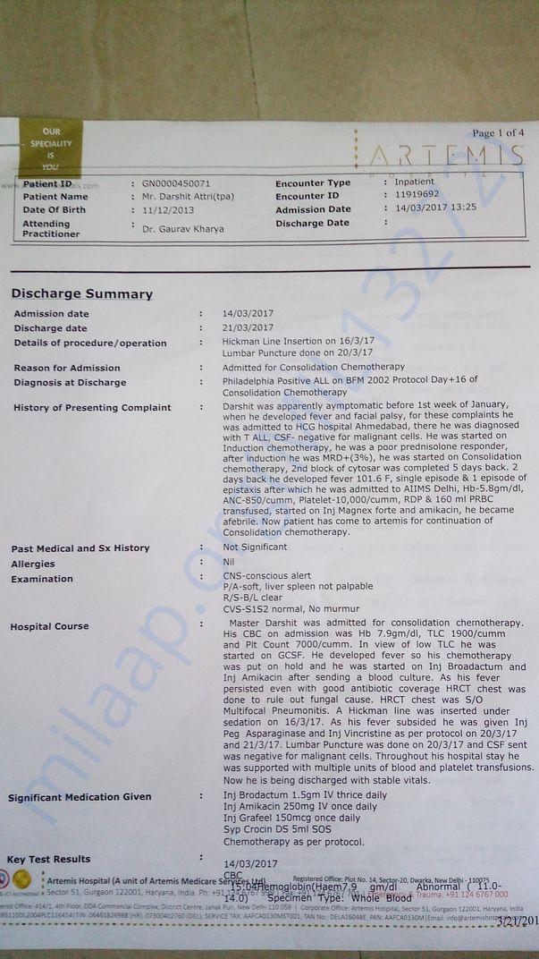 Recent Discharge Summary