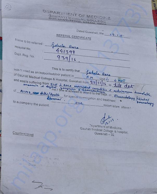 Referral Certificate