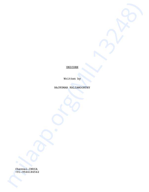 Short film script in Final draft Format