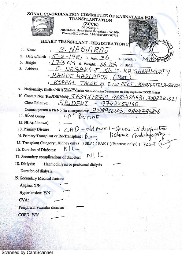 Hospital documents of NagarajS