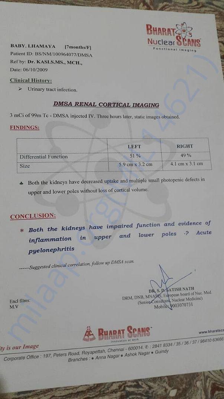 DMSA Renal cortical imaging