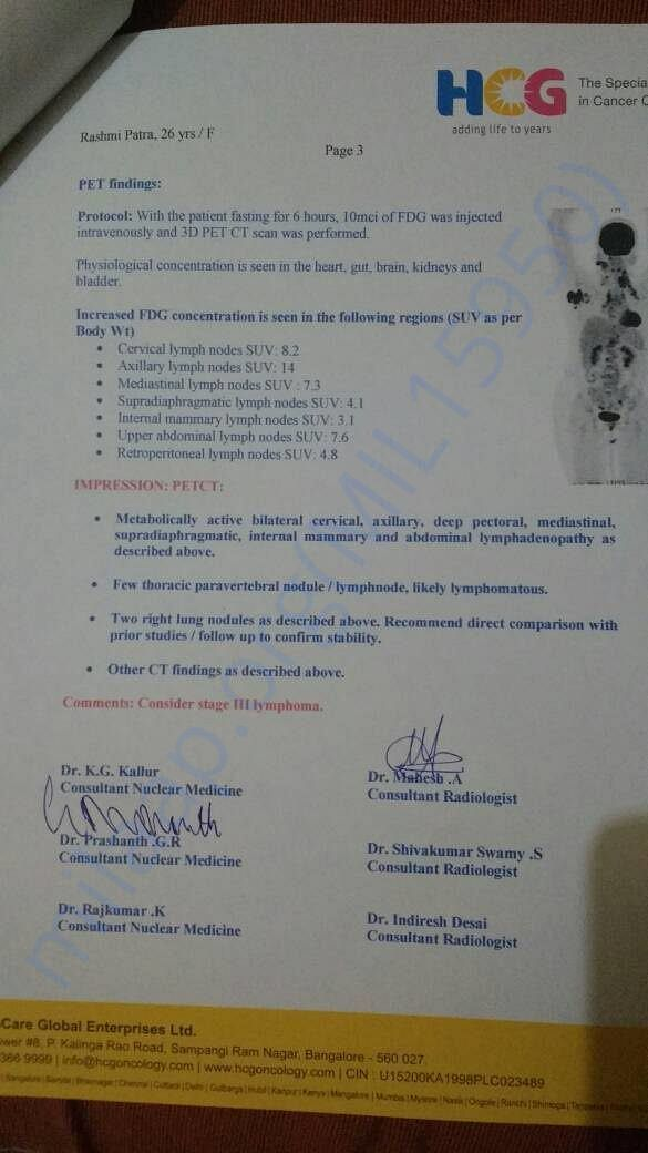 Documents from the hospital