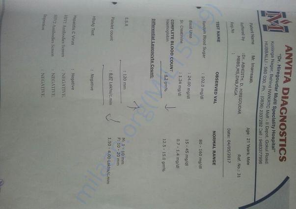 Imam Medical Report