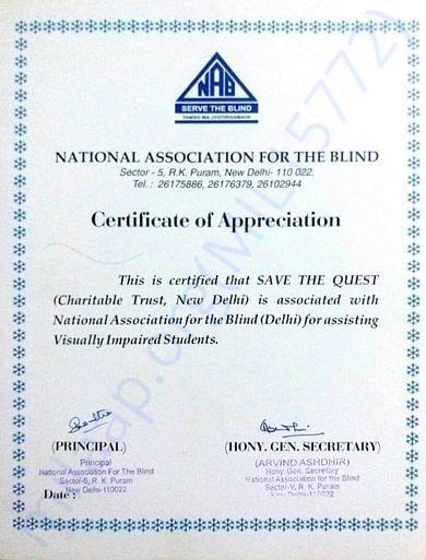 NAB certificate for association