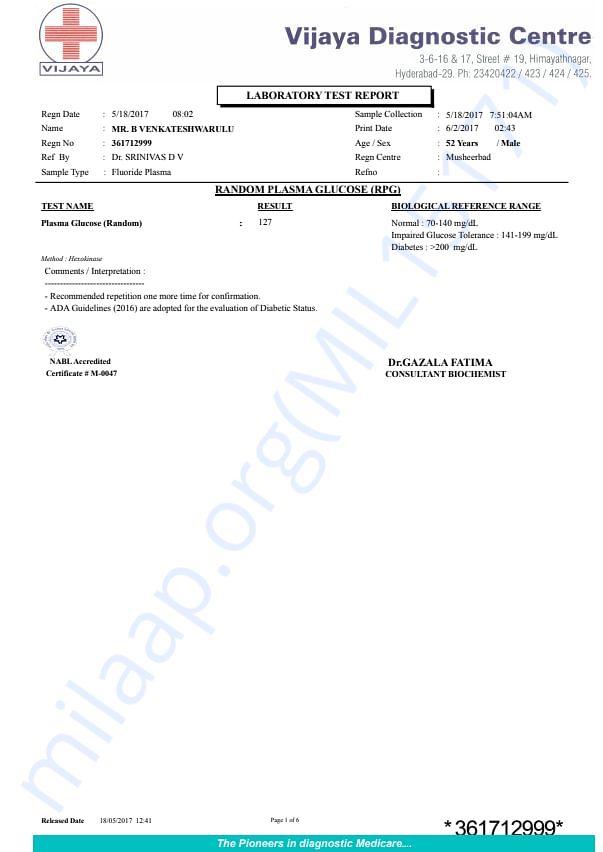 May 18 2017, health report (Urine, LFT, hemogram, creatinine..)
