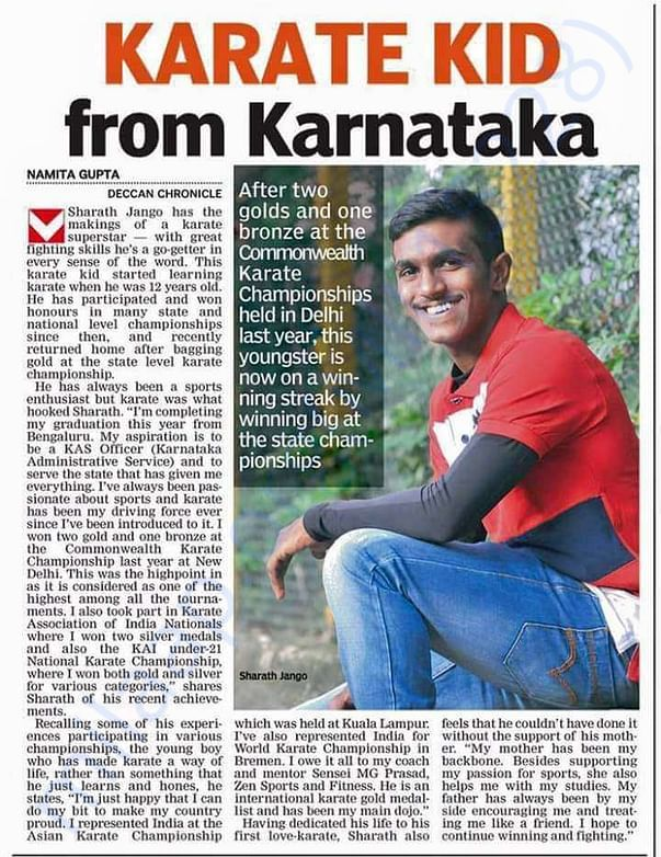 Karate Kid from Karnataka