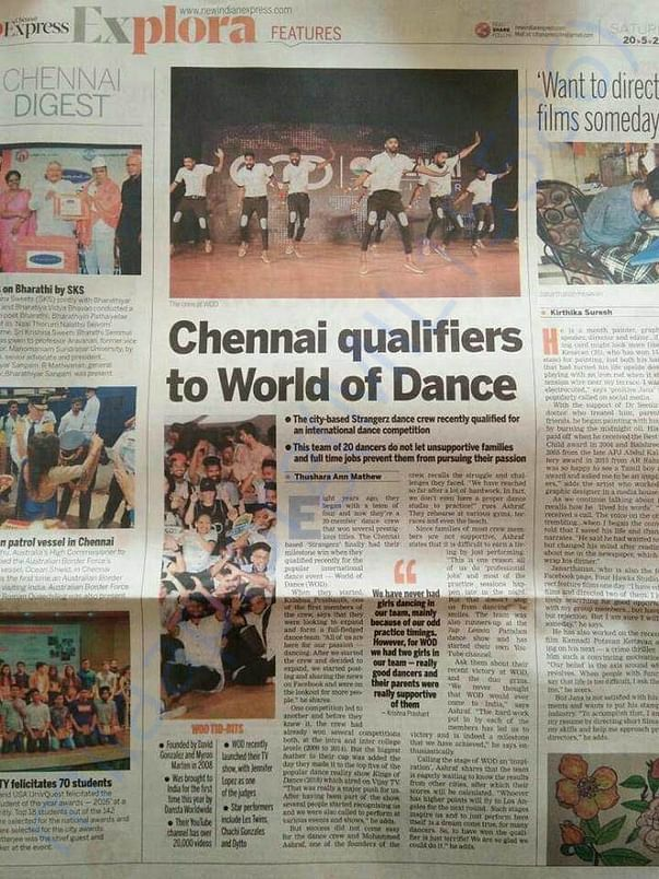 Beautifully written article in today's Indianexpress about our Journey