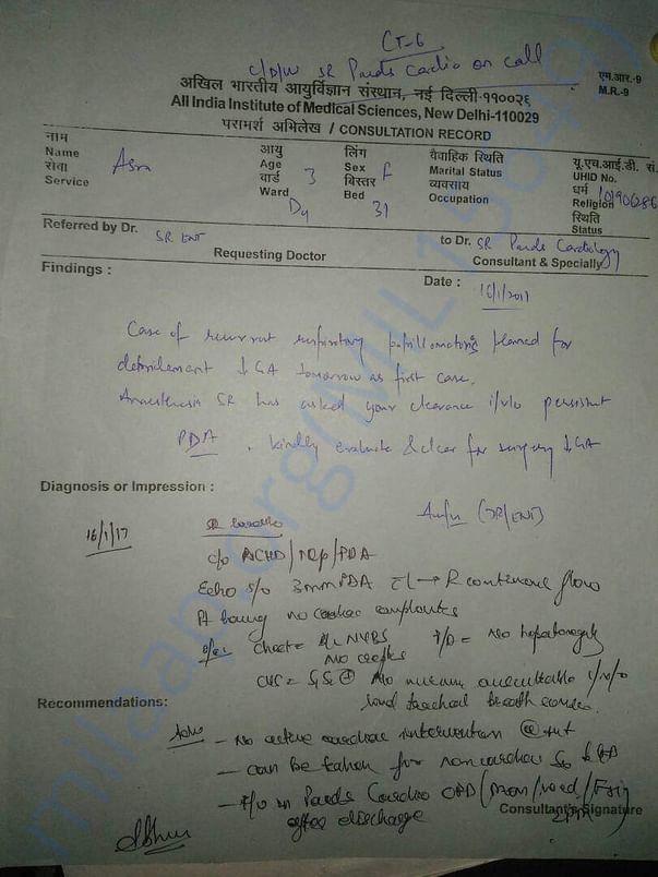 AIIMS' Diagnosis 2