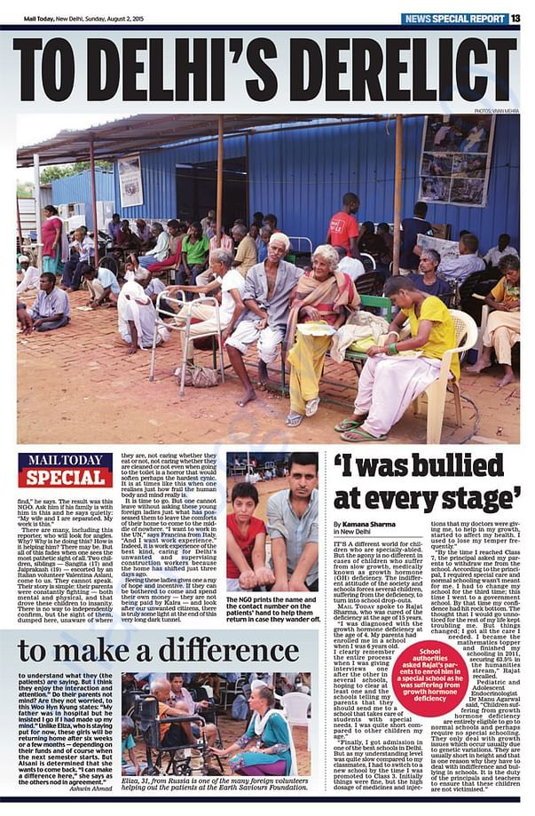 An article from Mail Today about the old age home