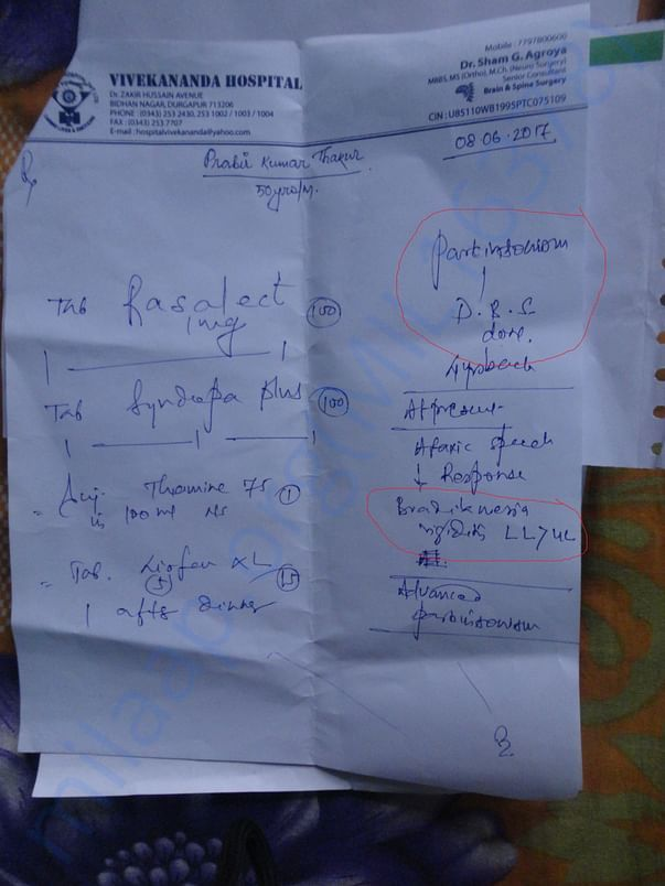 consultation report of local doctor in 2nd time