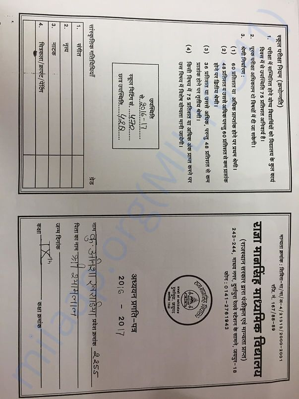 Anisha's Report Card