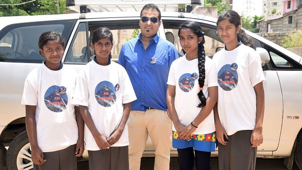 Watching Poorna the Film with Children of Lovedale Foundation