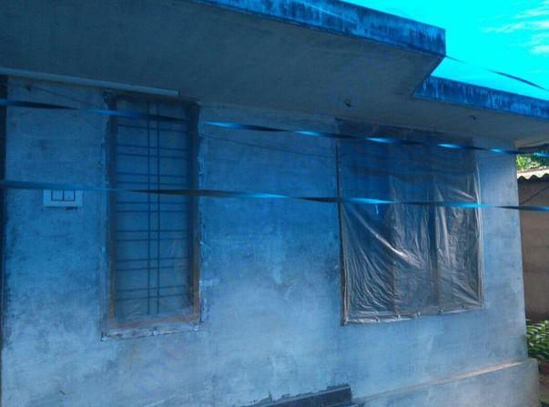 Rajesh's house in Kuttampuzha village