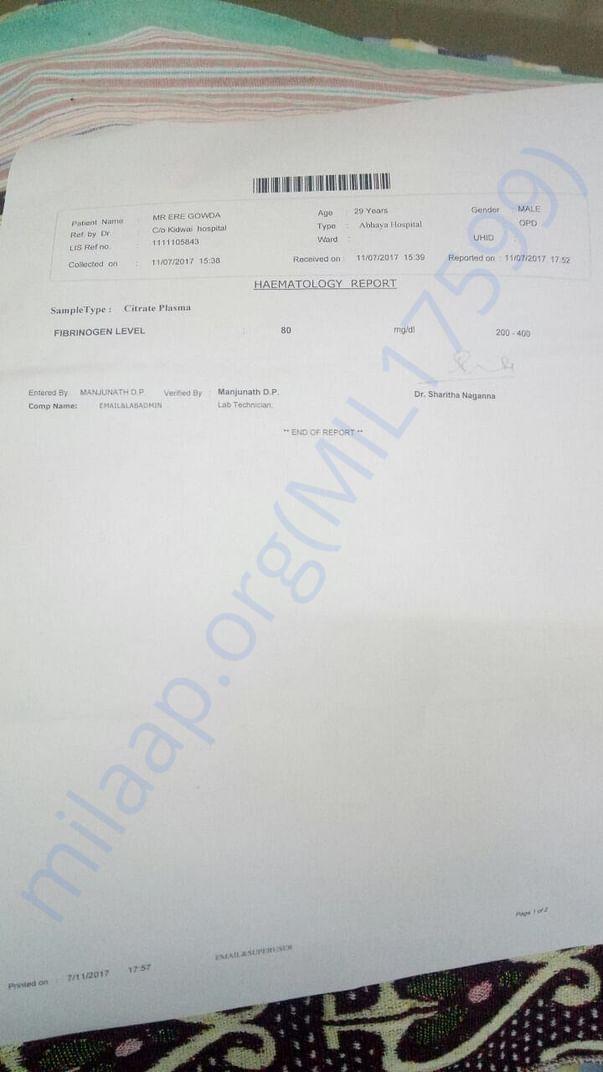 Heamatology report