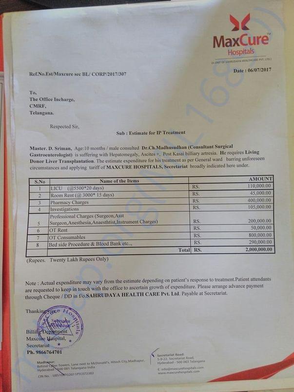 Medical Expenses Bill