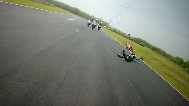 sebastian's crash photo during the race.