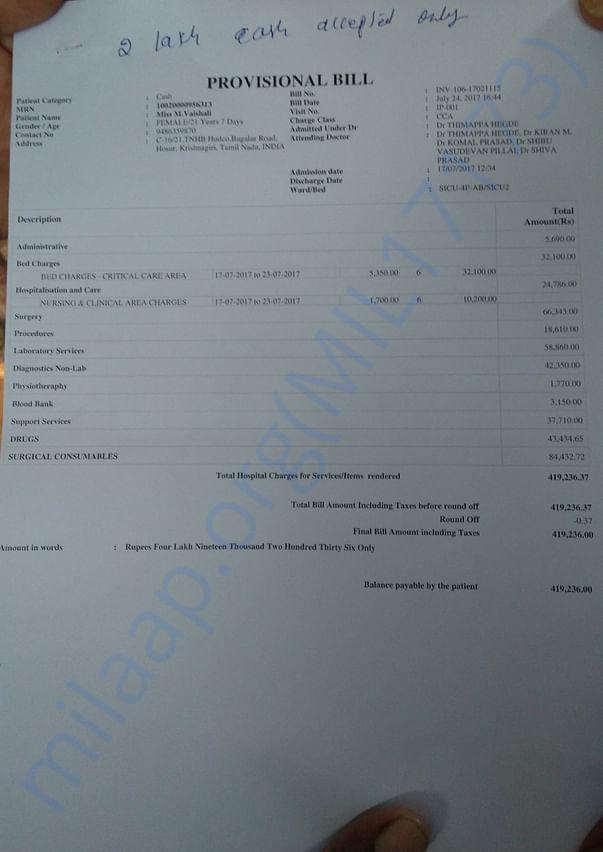 Bills 24/07/2017 --- ₹4,19,236.00