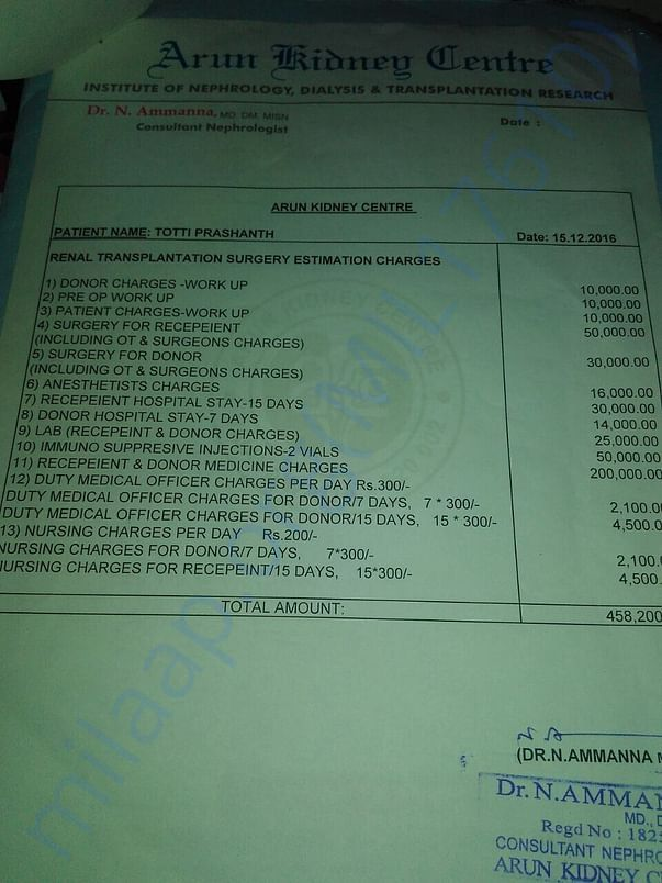 Operation Estimation Sheet