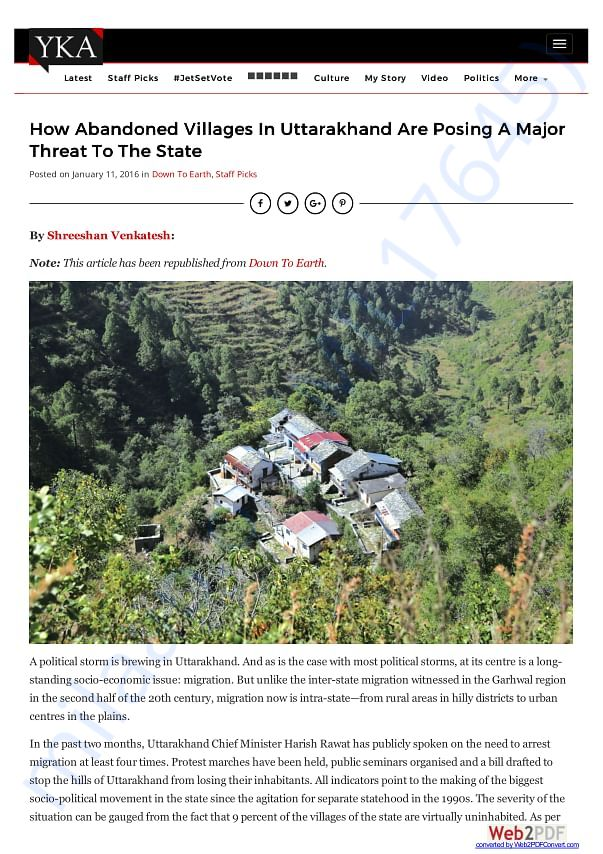 How abandoned villages in Uttarakhand are posing threat to the state