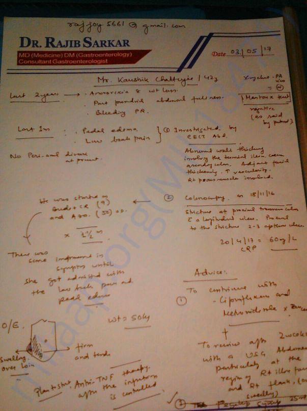 Prescription of Dr.Rajib Sarkar