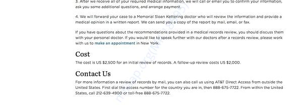 Sloan Kettering Medical Record Review page 3